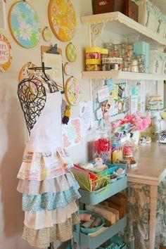 Raising up Rubies: a craft room update ... ♥