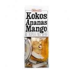 BIO TROPICAL MIX KOKOS ANANAS MANGO  Er war unser erster Bio-Trockenfrüchte Mix und zählt auch heute noch zu den meistverkauften Produkten unserer Eigenmarke. Für alle, welche die hervorragende WAD-Qualität noch nicht kennen, ist der Mix aus getrockneten Ananasstücken, Mangostreifen und Kokoschips ideal, um sich vom exotischen Geschmackserlebnis überzeugen zu lassen. Mango, Coffee, Drinks, Pineapple, Organic Beauty, Manga, Kaffee, Beverages, Cup Of Coffee