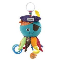 Lamaze Early Development Toy, Captain Calamari - Lamaze makes some great toys for hanging off of infant car seats.  He still plays with this.