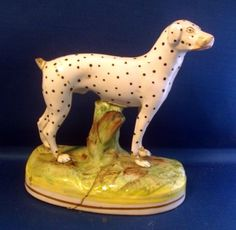 Antique 19th Century Staffordshire Pearlware English Pointer Dalmatian Dog Hound | eBay