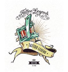 Tattoo legend screen printing design vector by morys on VectorStock®
