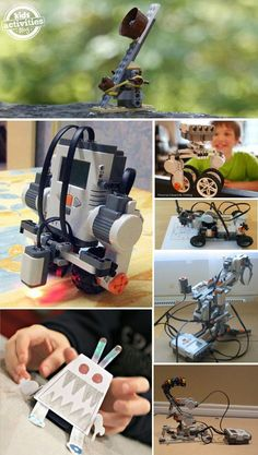 16 Robots Kids can Actually Make If your kids love exploring science and technology I bet they would love to explore robotics. These are all robots that kids can make! Stem Science, Science Fair, Science For Kids, Science And Technology, Science Fiction, Stem Projects, Science Projects, Projects For Kids, Crafts For Kids