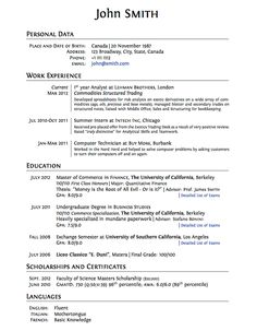 best resume layouts 2013 latex templates curricula vitaersums