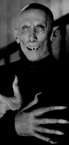 Salem Lot's Vampire Reggie Nalder. Unlike the book, where Mr.Barlow's appearance was human. In the mini- series he has taken on  the Nosfuratu appearance. Aaaah the magic of Hollywood.