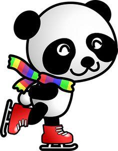 Panda, Skates, Skating, Animal