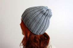 Women´s grey beanie hat, unisex winter/fall hat, 100 % soft merino wool #Handmade #Beanie