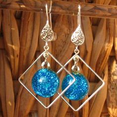 Fused Glass Hoop Earrings   Dichroic Fused Glass by GlassCat, $25.00