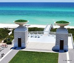Alys Beach - Scenic Highway 30A's newest—and perhaps the most visually striking—community features architecture influenced by the brilliant-white, traditional homes of Bermuda. When complete, the 158-acre resort town of Alys Beach will be twice the size of nearby Seaside and will consist of 900 custom villas and courtyard homes.