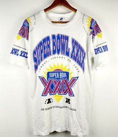 08219a4bb Vintage NFL American Football Super Bowl 1995 T-Shirt Large