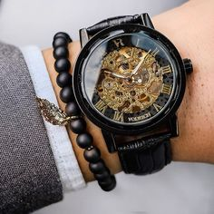 [Details] Manual Self-Wind Movement - Case Diameter: 40mm - Case Thickness: 10mm - 100% Genuine Leather Band - Band Length: 25cm - Band Width: 1.8cm - Hardened Mineral Crystal Glass (Scratch Resistant