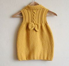 Cable vest tunic for Little M by Pure Craft, via Flickr