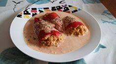 Pimientos de piquillo rellenos de gloria. para #Mycook http://www.mycook.es/receta/pimientos-de-piquillo-rellenos-de-gloria/