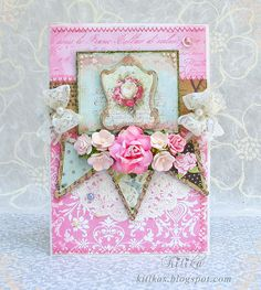 Romantic shabby chic card by Kitika Litika, via Flickr