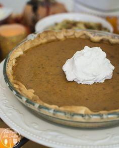Pumpkin Pie - This is the best pumpkin pie ever, its got the perfect amount of flavor, a great texture and is easy to make! I promise you'll love it!