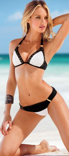 Candice Swanepoel Cool swim wear pose