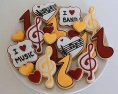 images of musical cookies | Music Lovers Cookie Platter