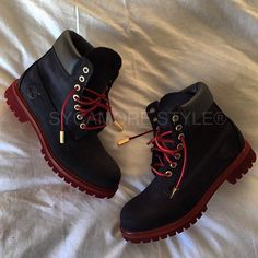 NOIR et ROUGE  Follow @SycamoreStyle @SycamoreStyle  Celebrity Custom Designer  20% OFF SALE  FREAKED TIMBS STARTING AT $240 use code SYC at checkout  @SycamoreStyle @SycamoreStyle www.SYCAMORESTYLE.com Worldwide Express Shipping #blckfashion