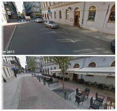 "Week 10 - This example of a transformed cobblestone street in Poland shows that any ""regular"" street space can be reutilized into a public space. The pedestrian should be accommodated for as much as the driver."
