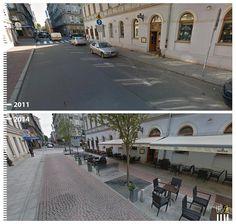 Cobblestone is back in style in Łódź, Poland.