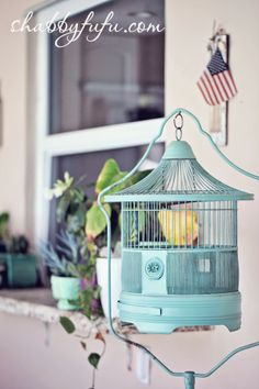Collecting Series...How To Display With Vintage Birdcages In Your Home