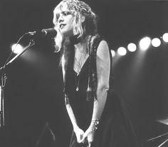 Stevie Nicks on stage.