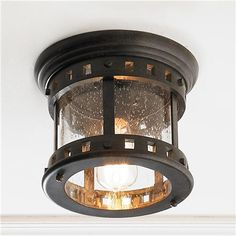 Seedy Glass Prairie Style Outdoor Ceiling Light Shades of LIght