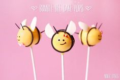 Cute Bumble Bee Cake Pops