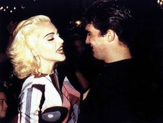 Madonna with Antonio Banderas in a party thrown for her by Pedro Almodovar in Madrid, 1990.  #madonna #almodovar #banderas