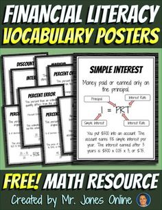 FREE 5-12 Nine informative posters to boost student knowledge and responsibility with finances.