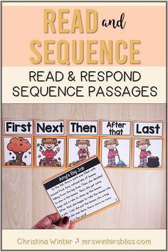These FALL sequence of events reading passages will help your elementary students learn to identify and describe the sequence of events while reading. Students will read the passage, sequence the events of the story, and answer comprehension questions describing the events in the reading passage. DISTANCE LEARNING: NOW DIGITAL SLIDES INCLUDED!! Reading Comprehension Strategies, Comprehension Questions, Reading Passages, Sequence Of Events Worksheets, Teaching Resources, Teaching Ideas, Transition Words, 2nd Grade Worksheets, Sequencing Activities