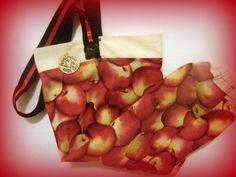 Fabric Plastic Bag Holder/ Grocery Bag Holder/ by bagsbyhags45, #Wedding Shower Gifts #Apple Decor