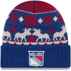 New York Rangers New Era Team Mooser Cuffed Knit Hat - Blue - $19.99