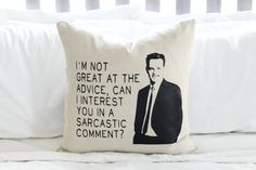 "This amazing Chandler Bing pillow. | 19 Amazing Gifts For Anyone Who Likes ""Friends"""