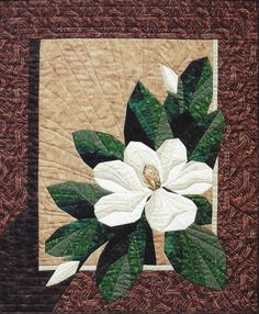 Magnolia Paper Pieced Quilt Pattern Designer Workshop in Crafts, Sewing & Fabric, Quilting Paper Pieced Quilt Patterns, Quilt Block Patterns, Applique Quilts, Quilt Blocks, Poinsettia, Quilting Projects, Quilting Designs, Flower Quilts, Landscape Quilts