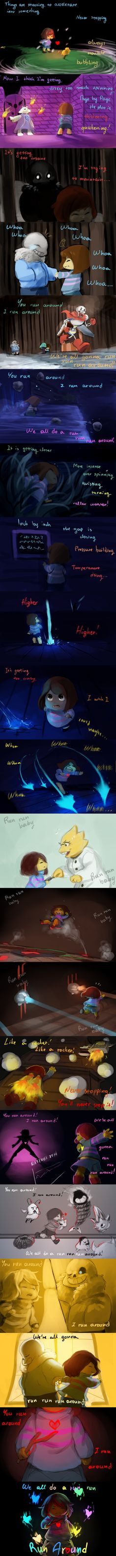 If Chara influences Frisk during Genocide, like some people claim, then this is obviously what happens during Pacifist. I mean, Frisk used to like puns- they really did! But then? Chara and Sans ca...