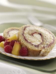 Peach Melba Jelly Roll