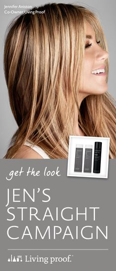To see the secret product behind Living Proof co-owner Jennifer Aniston's chic straight look, click through below. #livingproof #jenniferaniston #shinyhair #longhair #straighthair #prettyhair