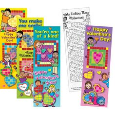Mosaic Valentine Scratch-And-Sniff Sticker Bookmarks are practical and motivating!