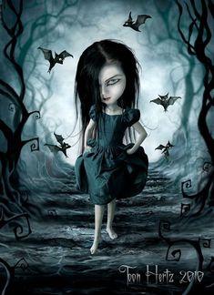 Dark Gothic Art, Gothic Fantasy Art, Beautiful Dark Art, Beautiful Pictures, Mark Ryden, Arte Obscura, Gothic Dolls, Goth Art, Expressive Art