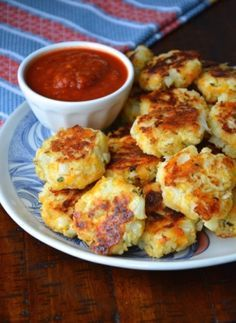 Baked Cauliflower Nuggets. Yummers. Can't say enough how good these are. If you like spice try adding a serrano pepper.