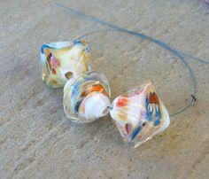 Lampwork Chrystal Beads Handmade Lampwork Jewelry by CandanImrak, $23.00