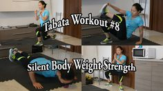 Tabata Workout #8: Silent Body Weight Strength Training 2