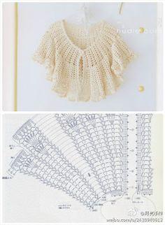"Patrones Crochet: Patron Crochet Bolero ""mañanero"""