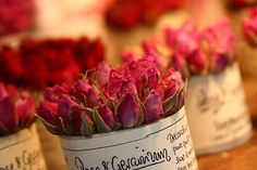 roses in cans