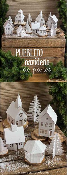 Gingerbread, Christmas Diy, Holiday Decor, Pretty, House, Home Decor, Paper Christmas Decorations, Christmas Paper, Christmas Wood