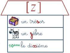 French phonics | French sounds: Maisons des sons – le son Z
