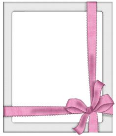 Transparent Silver Frame with Pink Bow