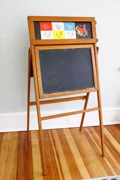 Vintage+Child's+Chalkboard+National+Slate+Company+by+FernHillRd,+$74.99