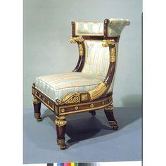 Бержер-номера, для которых это кресло была представлена, был первым из этой последовательности номеров, достиг по парадной лестнице. В 1874 году дом был снесен, чтобы освободить место для новых дорог.  Люди  Николас Морель и Роберт Хьюс были партнерами в столярные и обивочные материалы дела в 13 Грейт-Мальборо-стрит, в Лондоне, с 1805 до 1826 года. Их комиссий включены работы в Карлтон-хаусе, Лондон, Принц Уэльский, позже Принц-регент, и несколько аристократических клиентов. А также новая…