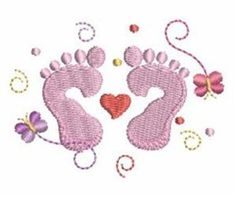 Newborn Feet Embroidery Designs, Machine Embroidery Designs at EmbroideryDesigns.com